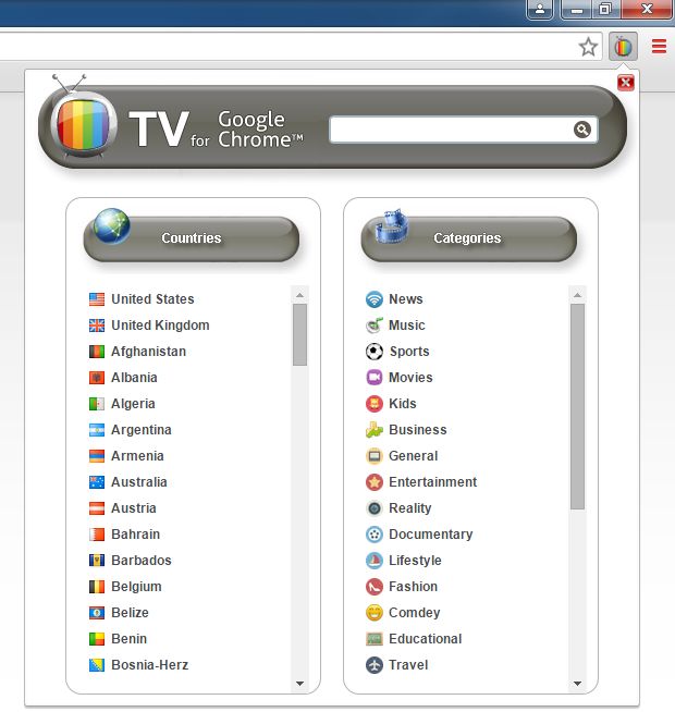TV For Google Chrome