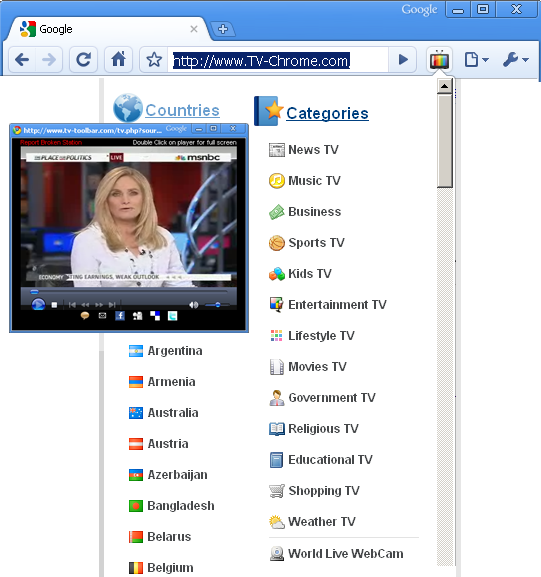 ADD TV to your CHROME